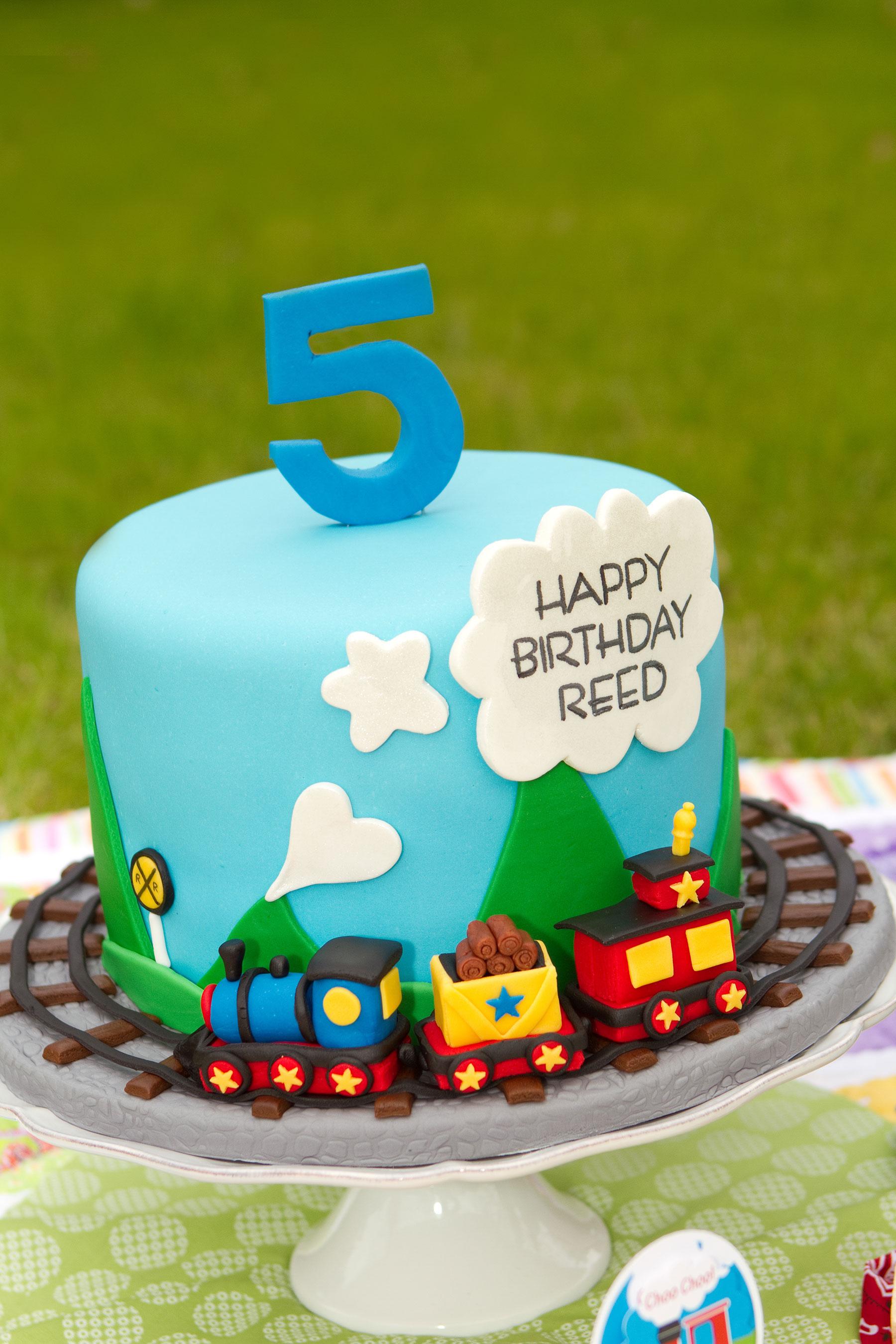 Choo choo train birthday cake
